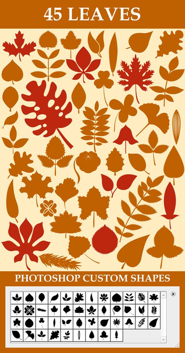 Leaves Custom Shapes