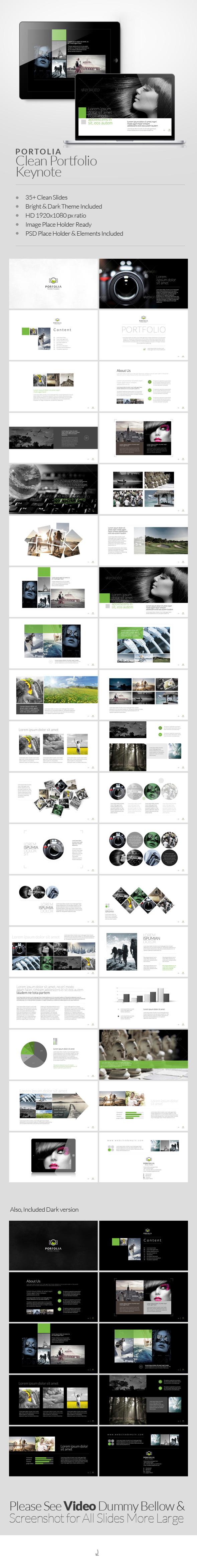 Portolia Multipurpose Clean Portfolio Keynote