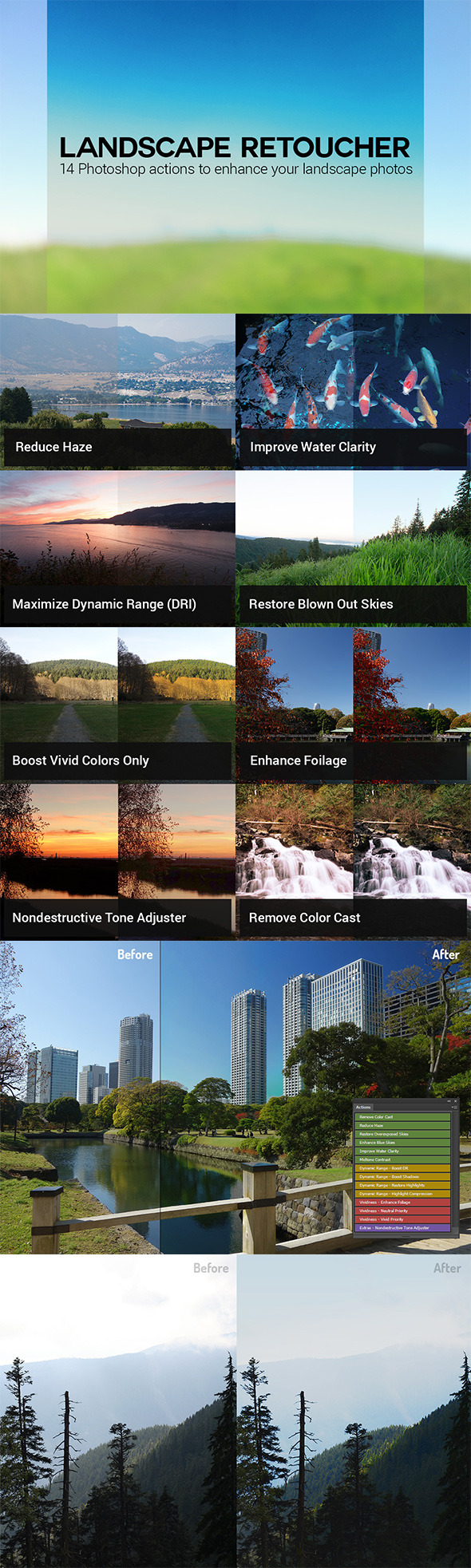 Landscape Retoucher - Photo Effects Actions