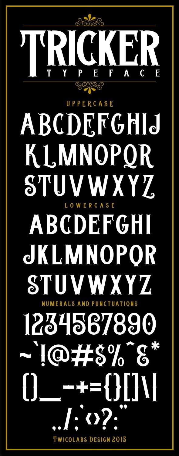 Tricker Typeface