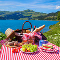 Picnic in alpine mountains - PhotoDune Item for Sale