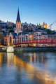 Vertical view of Lyon with Saone river - PhotoDune Item for Sale