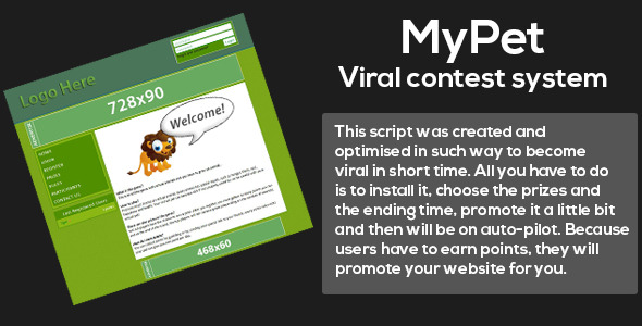 CodeCanyon MyPet Viral contest system 8770726