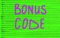 bonus code concept - PhotoDune Item for Sale