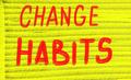change habits - PhotoDune Item for Sale