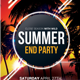 Summer End Party Flyer Template - GraphicRiver Item for Sale