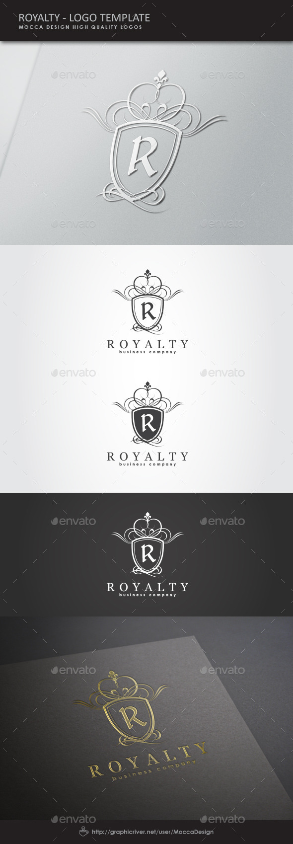 Royalty Logo - Crests Logo Templates
