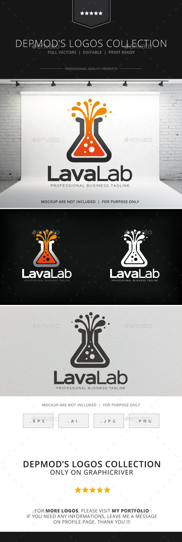 GraphicRiver Lava Lab Logo 8800879