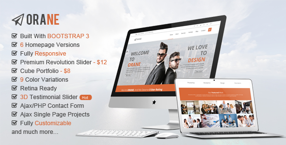 ThemeForest Orane Multipurpose HTML5 Template 8458181