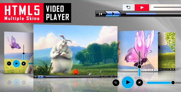 Html5 video player with multiple skins by lambertgroup for Html5 video player template