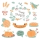 Happy Thanksgiving Set of Elements for Design. - GraphicRiver Item for Sale