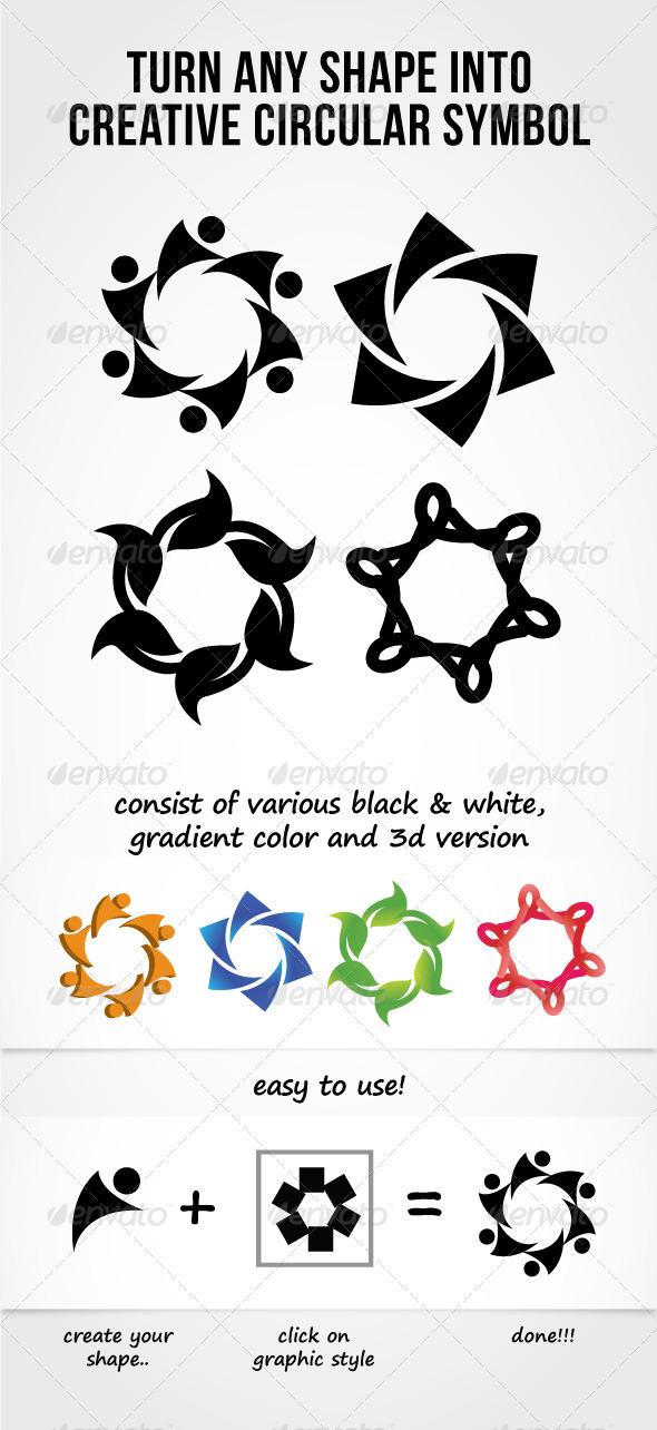 Circular Symbol Graphic Style - Styles Illustrator