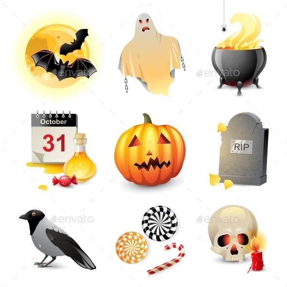 GraphicRiver Halloween Icons 8801664