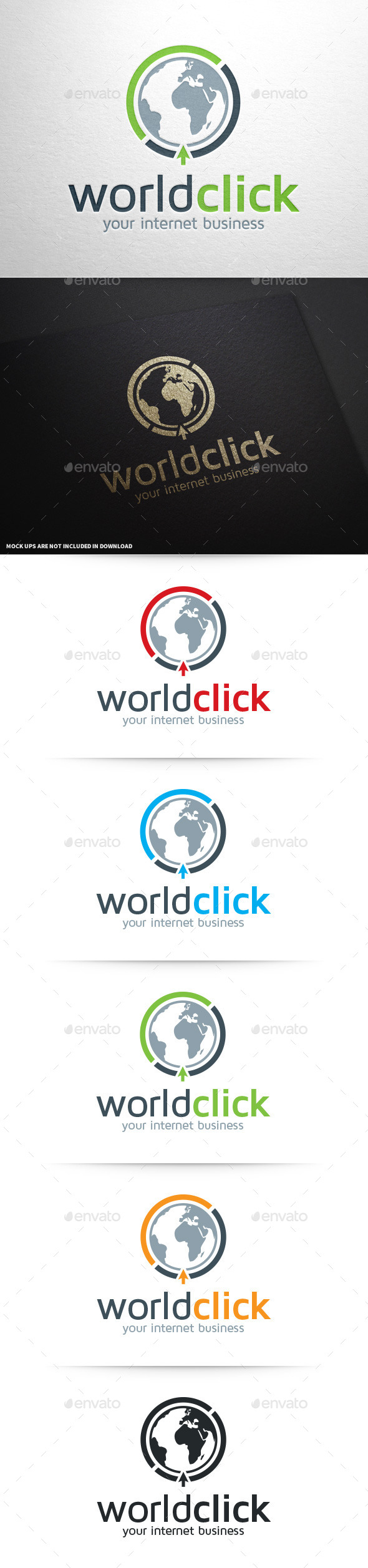 GraphicRiver World Click Logo Template 8801897