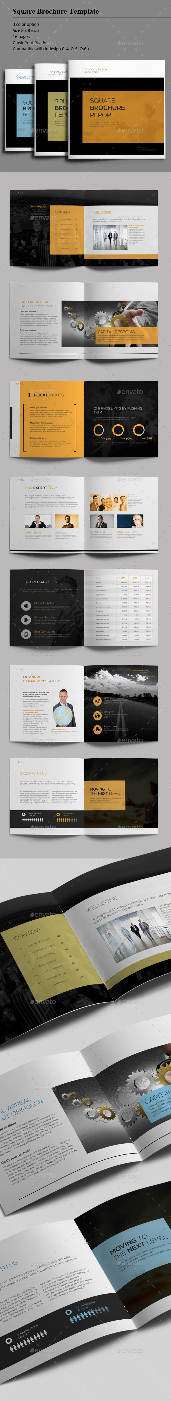 GraphicRiver Square Brochure Report 8801966