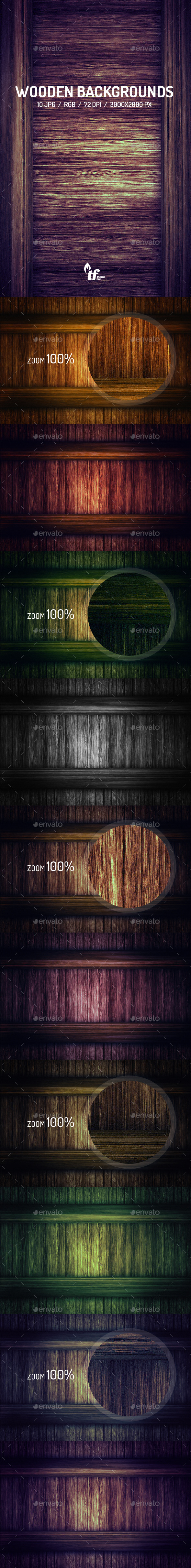 GraphicRiver Wooden Backgrounds 8802226