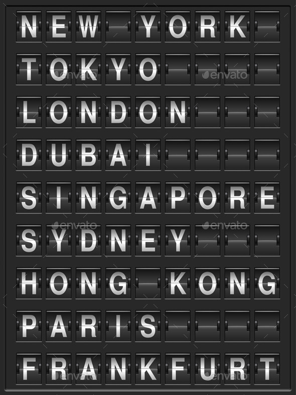 GraphicRiver Departure Board 8802923