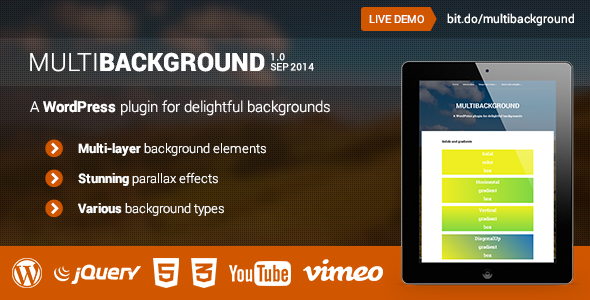 CodeCanyon MultiBackground WordPress Plugin 8771845