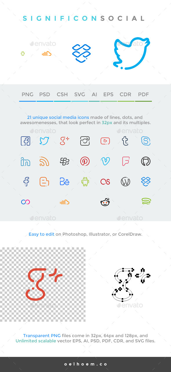 GraphicRiver Significon Social 25 Social Media Icons 8777828