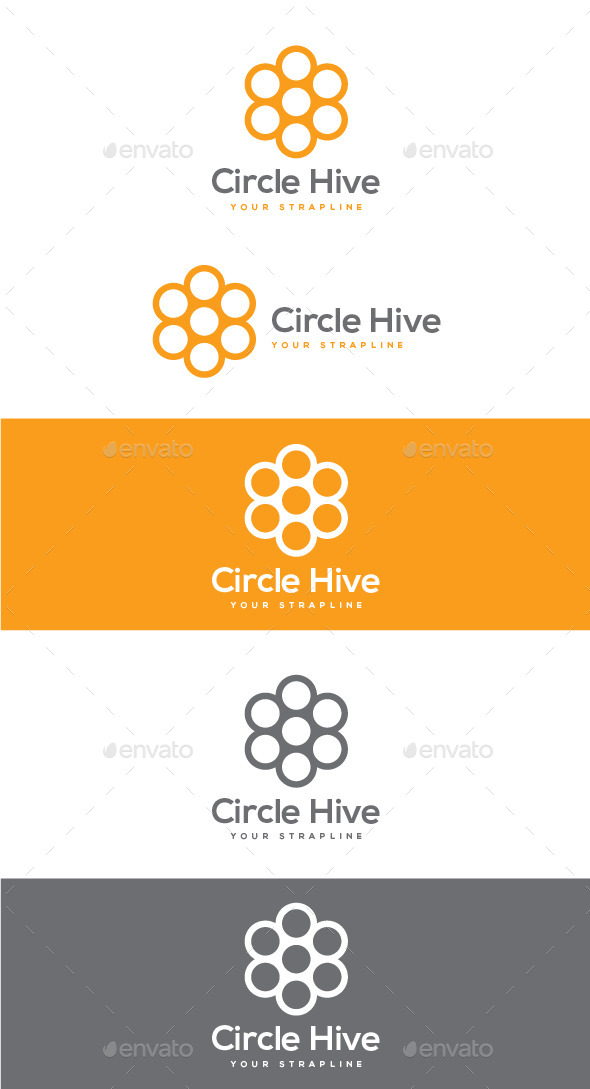 GraphicRiver Circle Hive Logo 8803265
