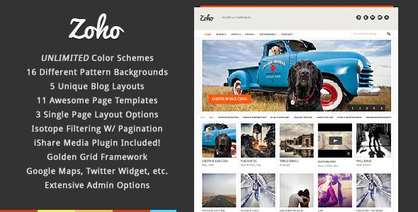 ThemeForest Zoho WordPress Grid Portfolio 842485
