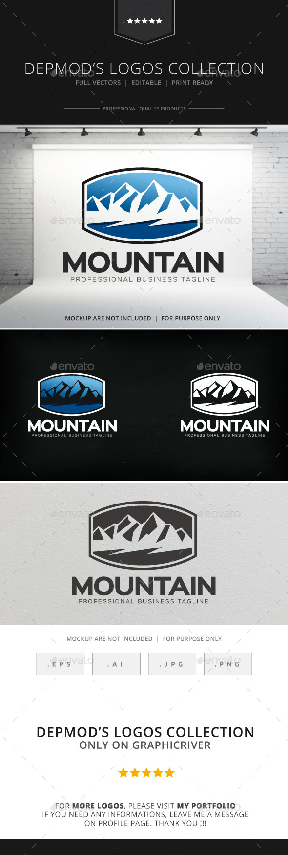 GraphicRiver Moutain Logo 8803800