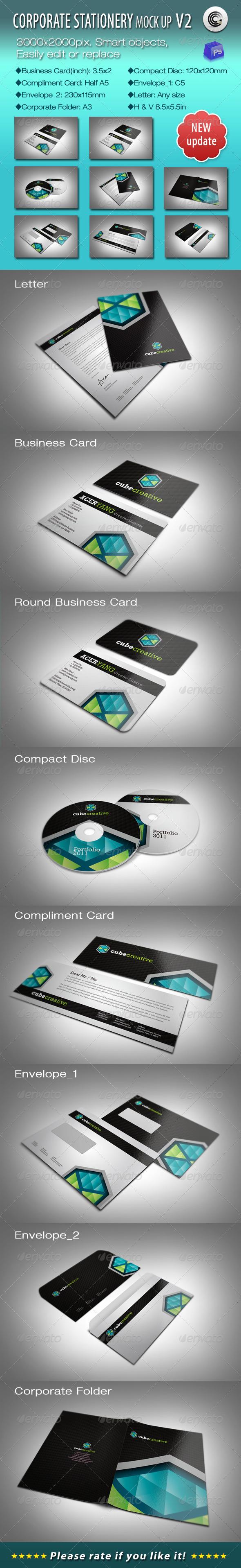 GraphicRiver Corporate Stationery Mock-ups V2 700046