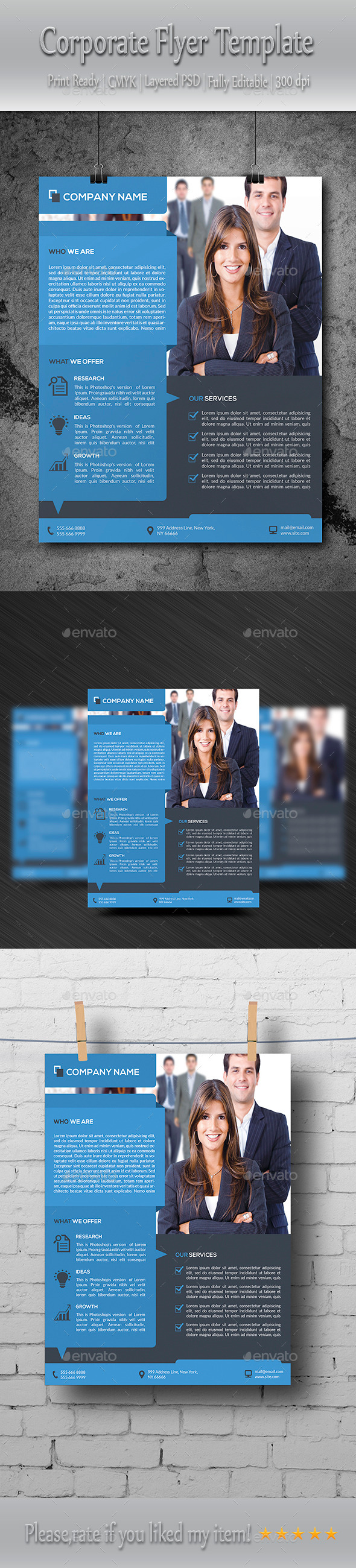 GraphicRiver Corporate Flyer Template 8803960