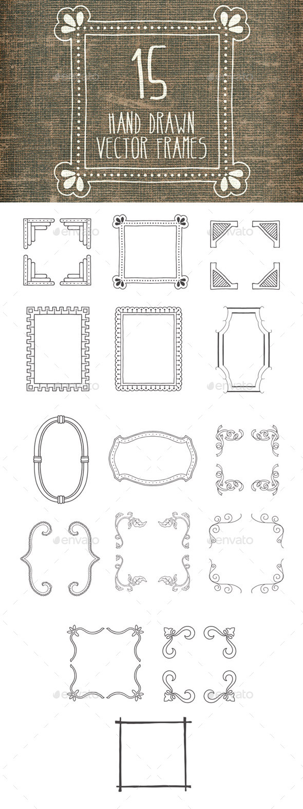 GraphicRiver Hand Drawn Vector Frames Pack 1 8803967