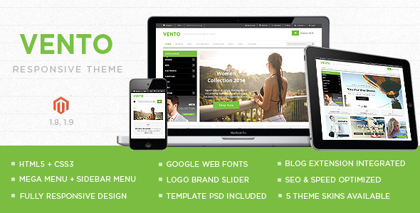ThemeForest Vento Responsive Multipurpose Magento theme 8803990