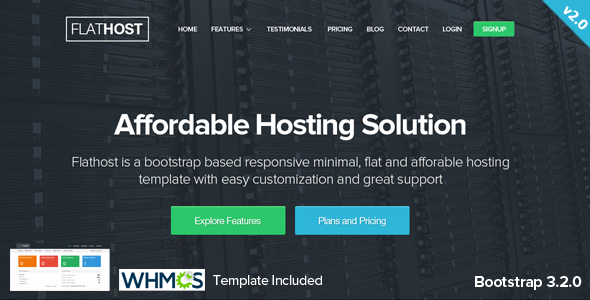 FlatHost Responsive Hosting Template with WHMCS - Hosting Technology