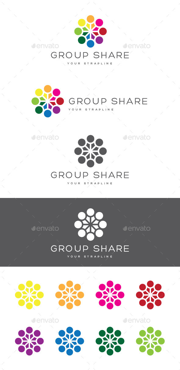 GraphicRiver Group Share Logo 8804023