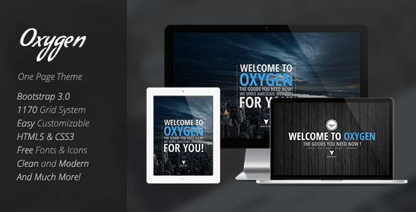 ThemeForest Oxygen One Page Parallax WordPress Theme 8804043