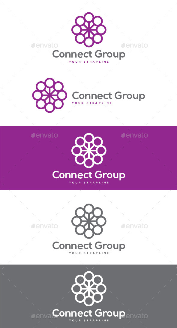 GraphicRiver Connect Group Logo 8804171