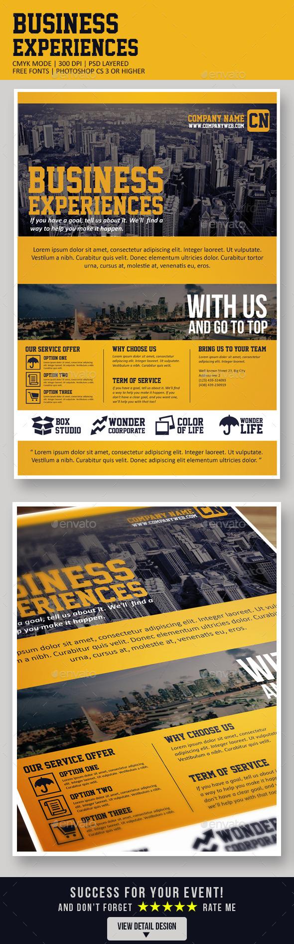 GraphicRiver Business Experiences 8804198