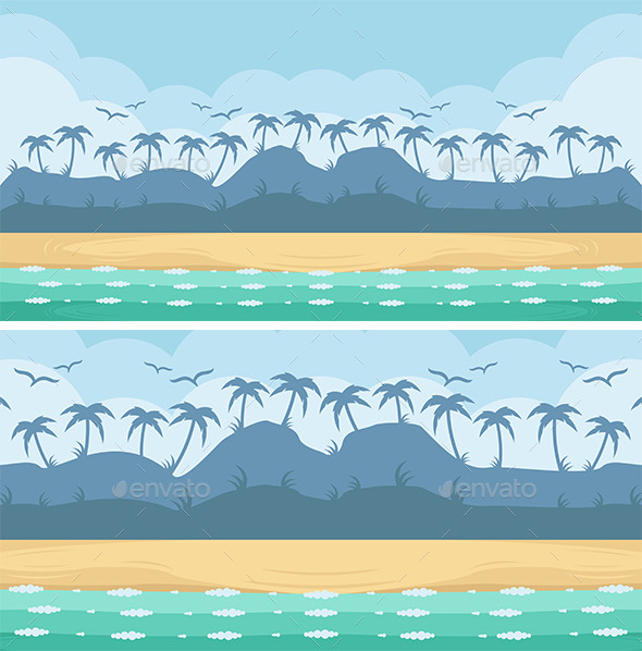 Beach Game Background