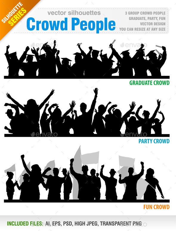 GraphicRiver Crowd People Vector 8804330