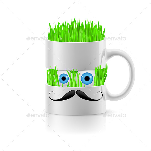 GraphicRiver Mug with Grass Inside 8804442