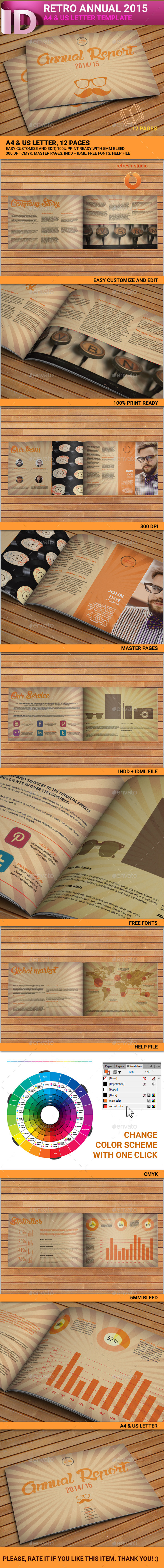 GraphicRiver Retro Brochure A4 US 12 pages 8712669