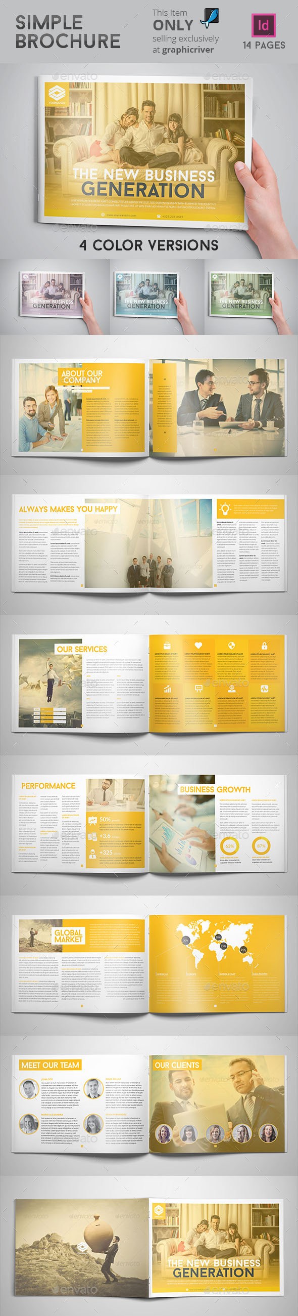 GraphicRiver Simple Brochure 8804613