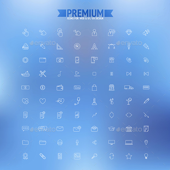 GraphicRiver Set of Simple Line Icons 8804631