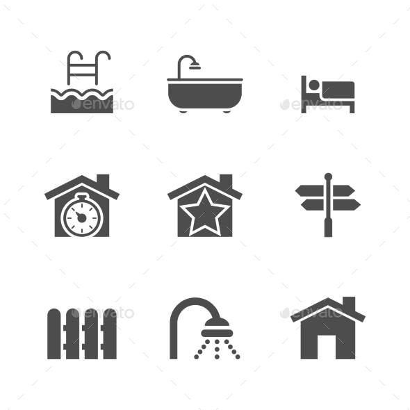 GraphicRiver Real Estate Icons 8804723