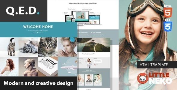 ThemeForest QED Responsive Bootstrap 3 HTML Template 8804734