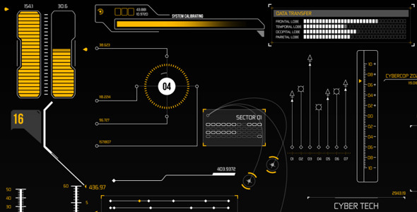 VideoHive HUD Infographic Elements 8804752