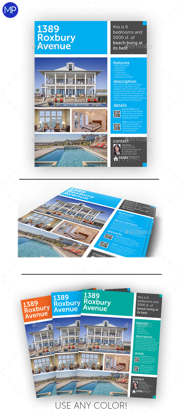 GraphicRiver Modern Real Estate Flyer 8804760