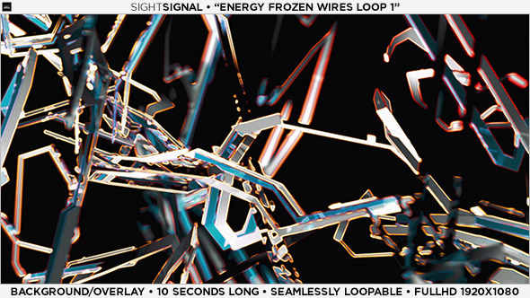 Energy Frozen Wires Background 1