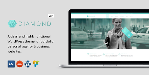 ThemeForest Diamond Responsive Business WordPress Theme 8804984