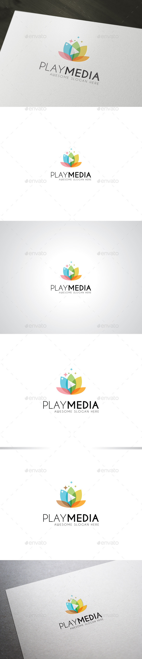 GraphicRiver PlayMedia Logo Template 8805061