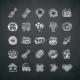 Icons Set of Car Symbols on Blackboard - GraphicRiver Item for Sale