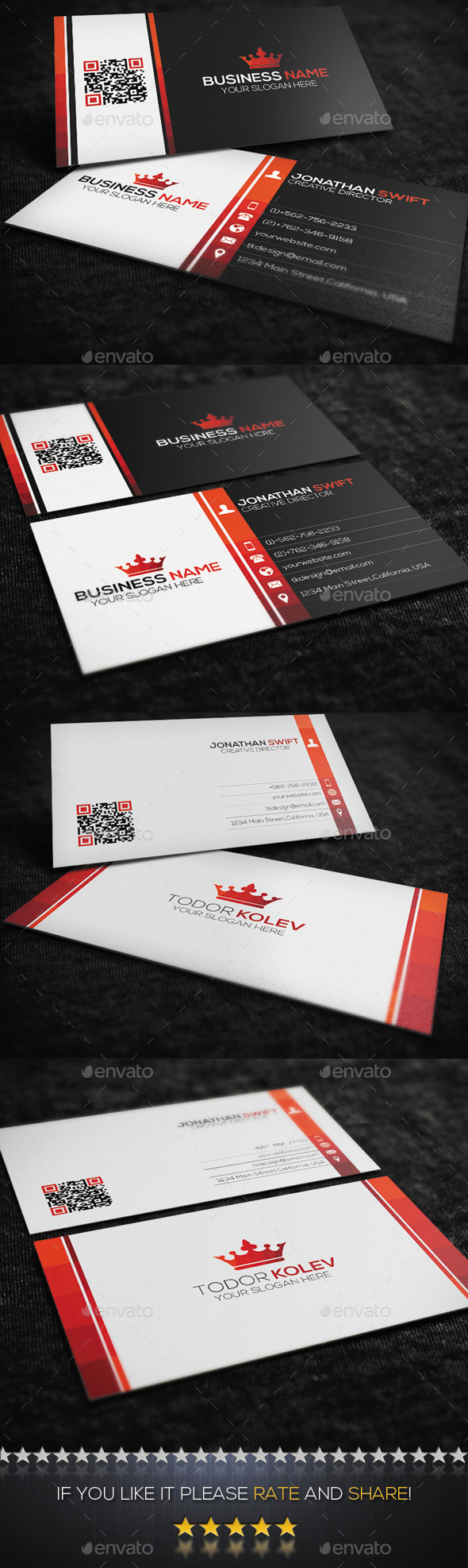 GraphicRiver 2 in 1 Corporate Business Card Bundle 8805076